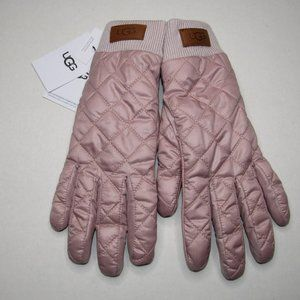 UGG WOMEN'S QUILTED ALL WEATHER GLOVES PINK CRYSTA